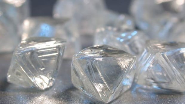 Rough diamonds from the Victor mine in Northern Ontario. The royalty regime on diamonds has been secret, until now. (Rita Celli/CBC)