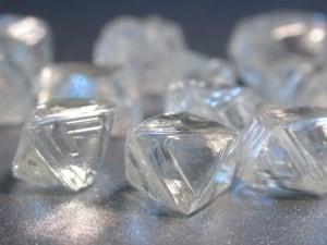 Victor mine rough diamonds