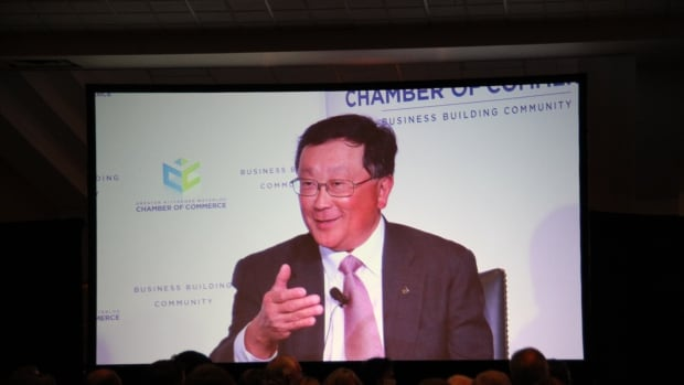 BlackBerry CEO John Chen was in Waterloo, Ont. for an event hosted by the Greater Kitchener-Waterloo Chamber of Commerce.