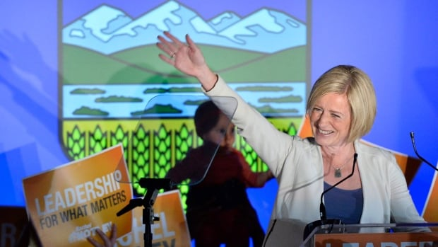 Alberta NDP leader Rachel Notley speaks on stage after being elected Alberta's new Premier in Edmonton on Tuesday, May 5, 2015. The NDP has won a majority in Alberta by toppling the Progressive Conservative colossus that has dominated the province for more than four decades.