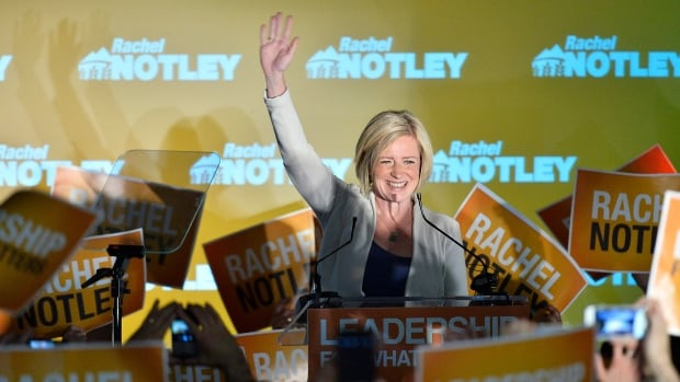 Alberta NDP leader Rachel Notley speaks on stage after being elected Alberta's new Premier in Edmonton on May 5, 2015. She faces a long list of challenges to hold on to power.
