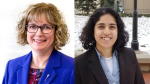 Linda Johnson PC and Anam Kazim NDP tie Calgary-Glenmore