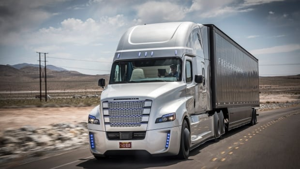 The Freightliner Inspiration is a self-driving truck developed by Daimler Trucks North America. A new plan envisions a corridor from Mexico to Canada specifically for driverless vehicles.