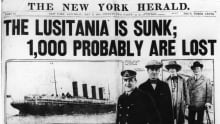 New York Herald Headline, May 8, 1915