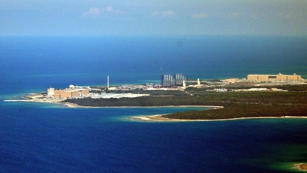 An aerial view of the Bruce Power nuclear generating station in Kincardine, Ont., on Aug. 16, 2003. Opponents of Ontario Power Generation's plan to store low- and intermediate-level radioactive waste in an underground rock chamber beneath the Bruce facility say the bunker will be too close to Lake Huron.
