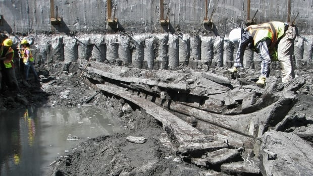 Remains of a 19th century schooner were discovered in Queen's Wharf in early May. On Thursday, what's left of the vessel will be moved to Fort York.