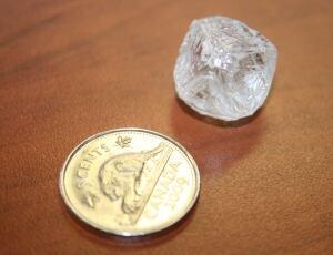 35.8 carat rough diamond