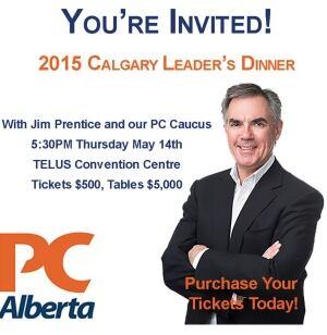 PC leader's dinner ad