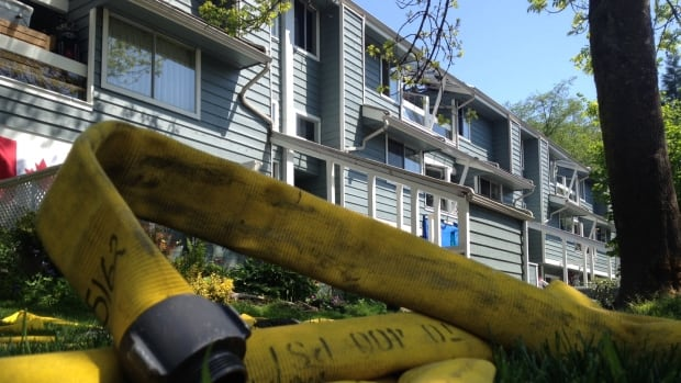 At least 50 people are out of their homes after a major fire at a North Vancouver housing co-op.