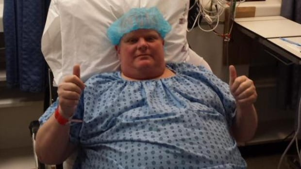 Dan Jacobs, a Rob Ford staffer, tweeted this picture of the former Toronto mayor and now city councillor prior to surgery.
