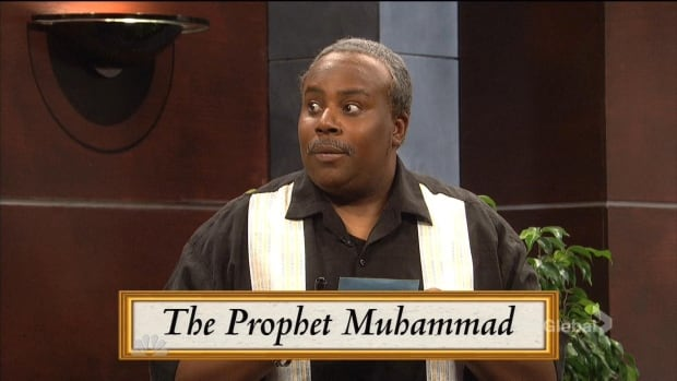 Comedian Kenan Thompson plays an actor asked to draw the Prophet Muhammad in a Win, Lose or Draw-style game show in an SNL sketch called Picture Perfect. The punchline is remarkably similar to a joke made by 22 Minutes comedians in a sketch aired on the CBC in January.