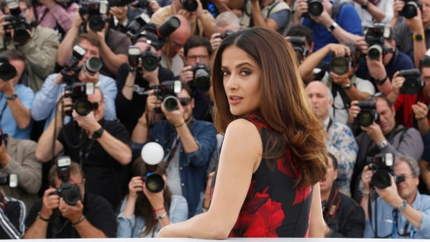 Salma Hayek, seen here at the 2015 Cannes Film Festival, joked about her 'inappropriate' attire while in hospital Friday.