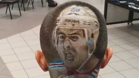 Rangers Fan Gets Chris Kreider Face Cut Into Hair