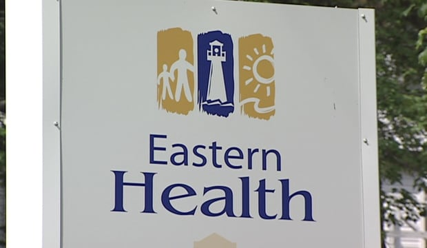 Eastern Health sign from file footage