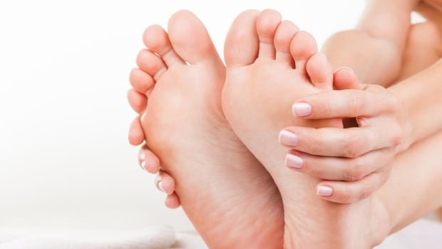 Dr. Raj Bhardwaj says you can use a plastic frozen water bottle to ice and stretch out feet plagued with plantar faciitis.