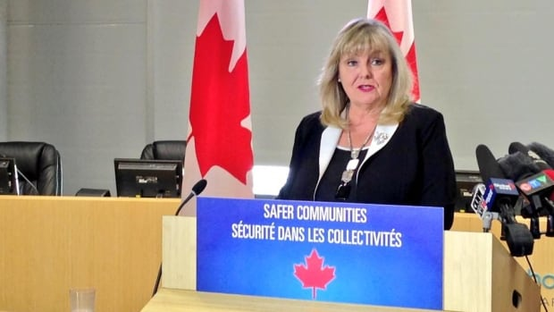 Conservative MP Kerry-Lynne Findlay announced on Tuesday the federal government has approved 100 new RCMP officers and $3.5 million in gang prevention funding in Surrey, B.C.