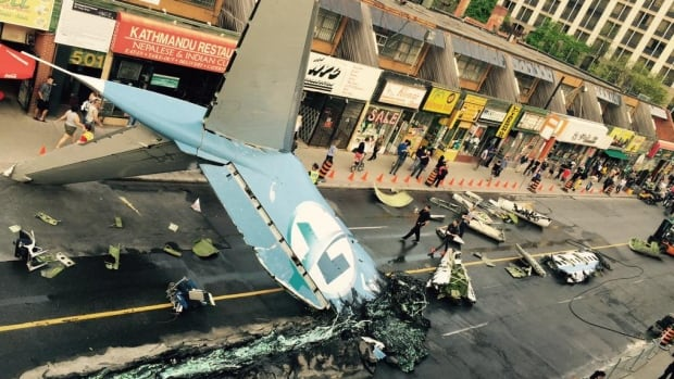 Filming a plane crash scene for Suicide Squad shut down Yonge Street in May. The supervillain movie is one of the largest and most visible ever shot in Toronto.