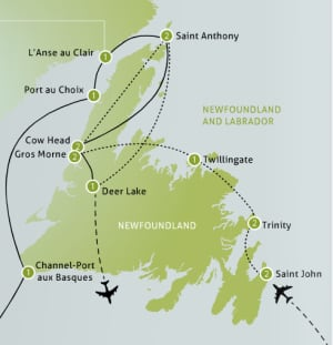 Anderson Vacations map
