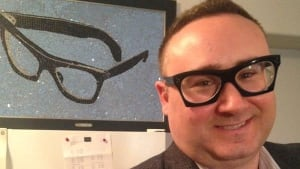 Michael Kydd got the frames as a tribute to Buddy Holly.