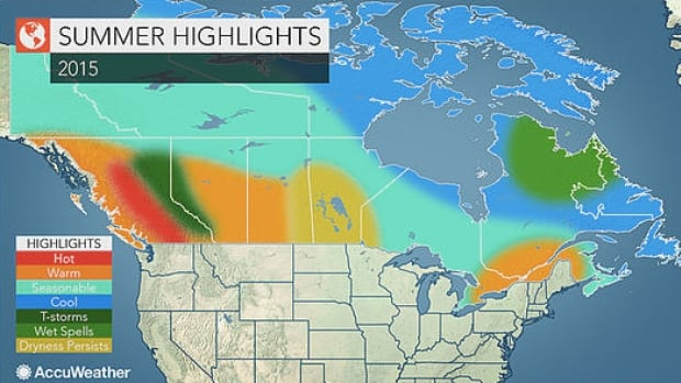Pennysylvania-based AccuWeather predicts a hot, dry summer for much of B.C., with temperatures particularly high in the Interior.