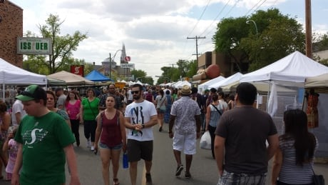 Crowds flock to Cathedral Village Arts Festival's street fair