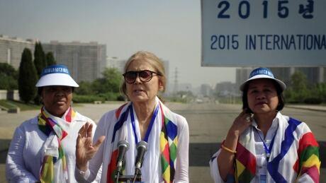 Women activists denied bid to walk across DMZ dividing Koreas