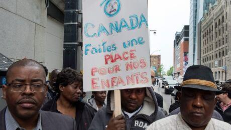 QUE Haitian Protest 20150525