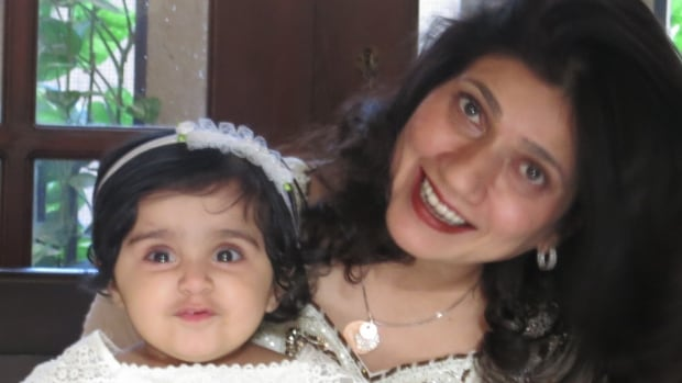 Nusrat Munshi obtained legal guardianship of a baby named Aleeza in Pakistan, but hasn't yet been able to bring the child with her to Canada.
