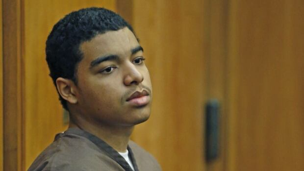 Marc Wabafiyebazu sits in court during his bail in Miami on May 27, 2015. He was denied bail.