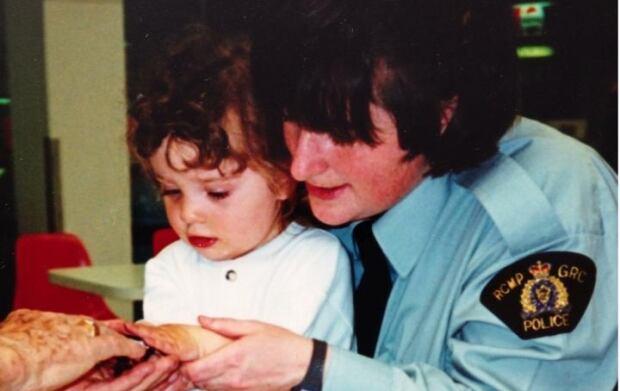 Janet Merlot and child