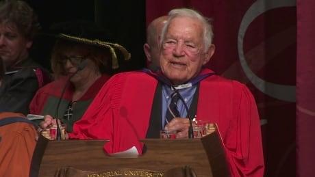 Howie Meeker receives honorary degree from Memorial University