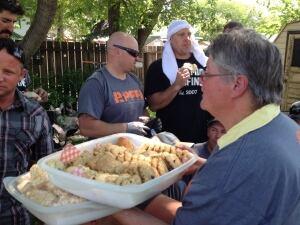 Diane Duke with cookies