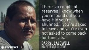 Darryl Caldwell HIV on Ahtahkakoop first nation