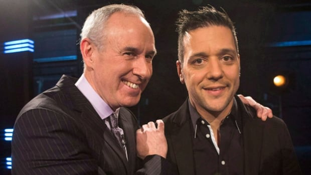 George Stroumboulopoulos, right, will stay on as the host of Hockey Night, while Ron MacLean's Sunday show moves to a new channel.