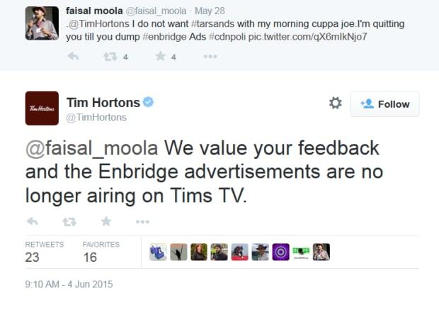 Tim Hortons screen grab