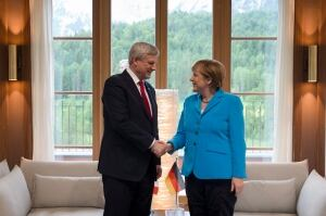Harper meets Merkel
