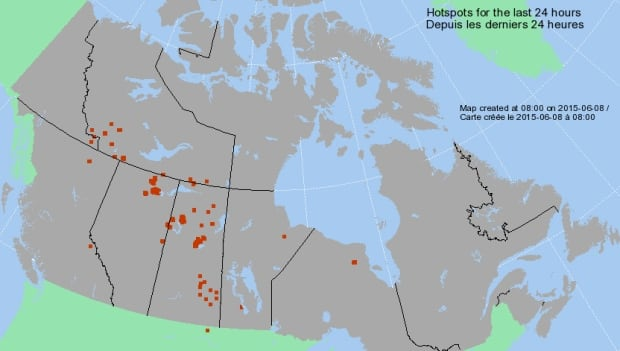 Natural Resources Canada hotspot map
