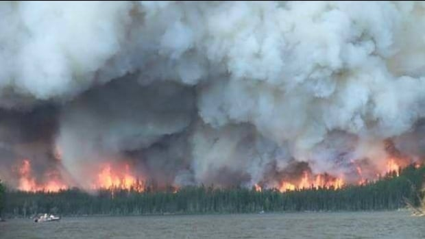 A forest fire in the La Ronge area from earlier in June.