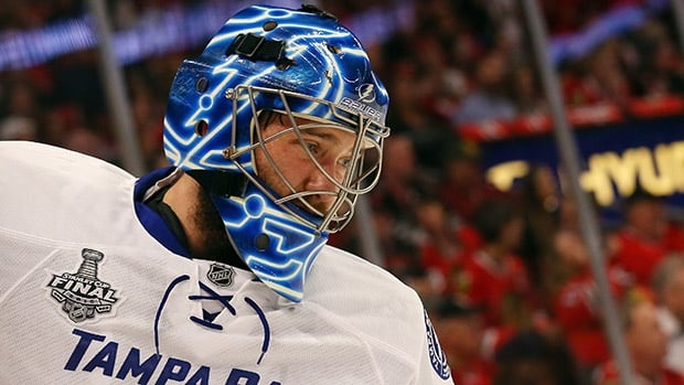 Ben Bishop didn't always look healthy, but he played well enough to backstop Tampa Bay to a road win at Chicago.