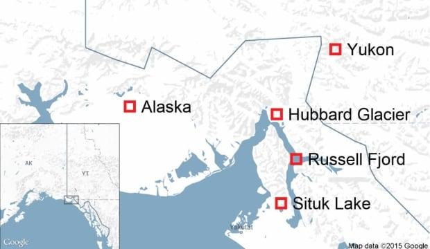 Hubbard Glacier map