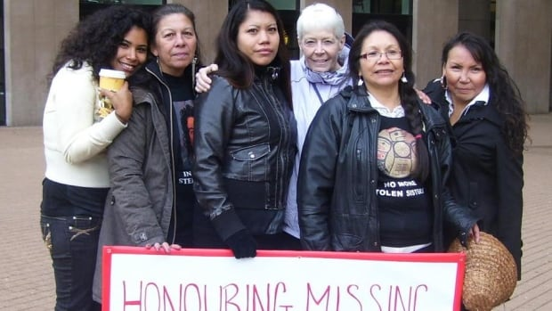 Lorelei Williams (centre) is an advocate for missing and murdered aboriginal women.