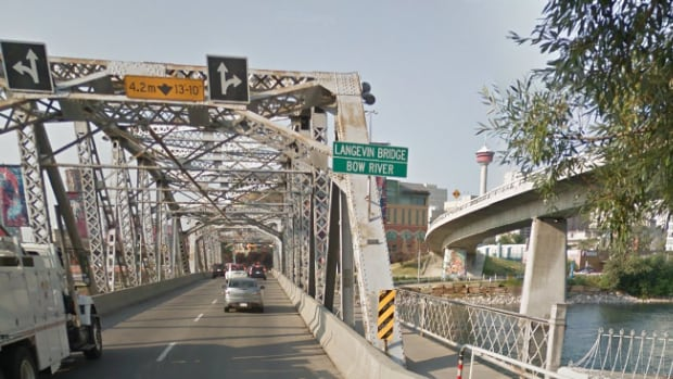 A man fell from the Langevin Bridge on Saturday and later died at the hospital.