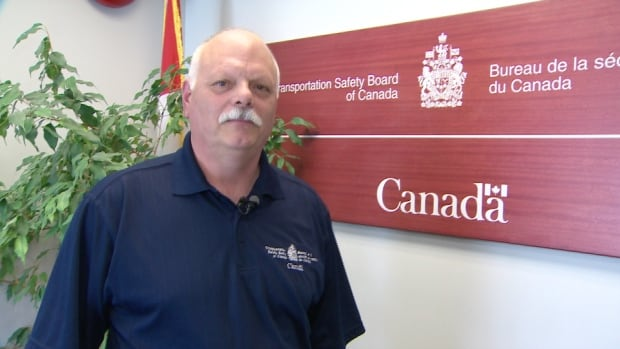 Transportation Safety Board investigator Doug McEwen outlines the ongoing probe into the crash of an Air Canada plane at Halifax Stanfield International Airport in March.