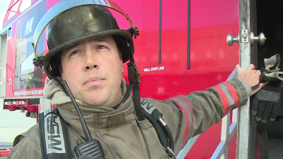 Trial by fire, as firefighters get practical training in Corner Brook - Newfoundland & Labrador - CBC News - richard-cormier