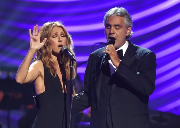 Celine Dion and Andrea Bocelli