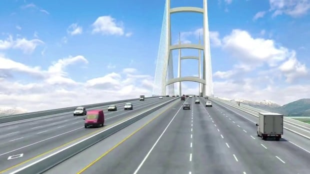 The new bridge to replace the George Massey Tunnel between Richmond and Delta along B.C.'s Highway 99 could have 10 lanes.