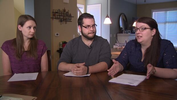 Christine Estok, Daniel Mack and Connor Greenwell (left to right) were three of the Surrey, B.C., Loblaws employees affected by the accidental overpayment. They will be allowed to keep the extra money, Loblaws now says.