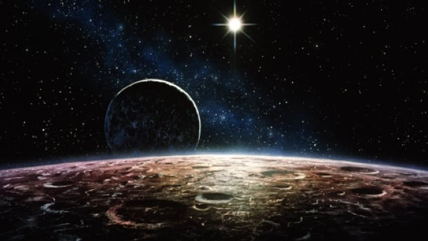 An artist's rendition of Pluto and Charon. The probe has been barreling toward the dwarf planet and its primary moon since January 2006, but suffered a glitch on Saturday.