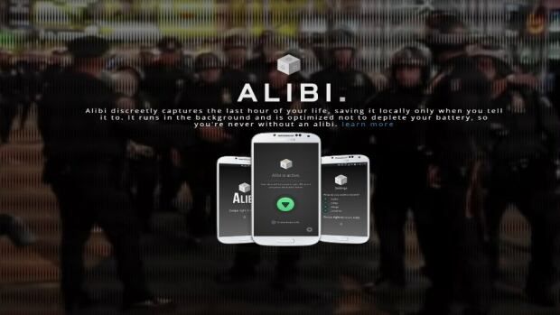 Alibi was developed after an experience co-founder Ryan Saleh had when he was pulled over by police.
