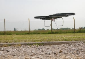 Hoverbike in flight